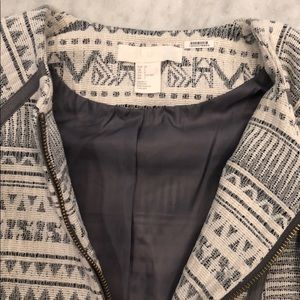 H&M Jackets & Coats - H&M statement white and gray jacket.